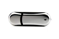 USB Stick Rounded Chrome