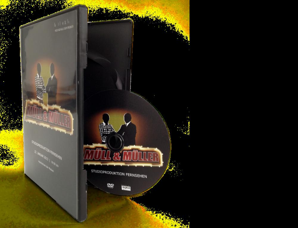 DVD-Kopien/Pressung in DVD-Box schwarz
