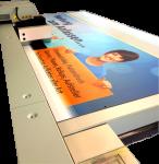 Alu-Verbundplatte 4mm weiß, 4-farbig bedruckt 100x100mm