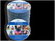 CD-Kopien/Pressung mit Farbdruck im Schrumpfschlauch